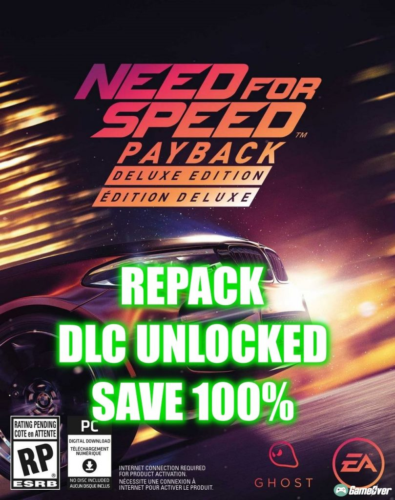 NEED FOR SPEED: PAYBACK [DLCs] – 15GB DLC UNLOCKED + SAVE